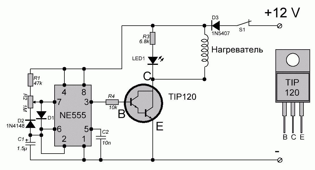 Регулятор на ne555 схема
